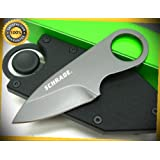 Grey Pocket Money Straight Fixed Blade Sharp Knife Money Clip with Sheath SCHCC1 perfect for outdoor camping hunting