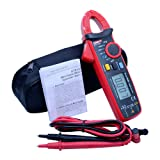 UNI-T Current clamp meter mini AC DC current 100A TRMS auto range digital clamp meter VFC NCV zero mode function data hold LCD backlight (Color: UT210E)