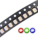 Chanzon 100 pcs 1206 SMD RGB Multicolor LED Diode Lights Chips (Red Green Blue Tricolor 3.2mm x 2.7mm Common Anode 4 pin DC 20mA/Color) Lighting Bulb Lamps Electronics Components Light Emitting Diodes
