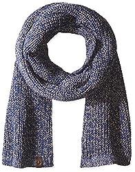 True Religion Men's Two Tone Knit Scarf, Navy, One Size