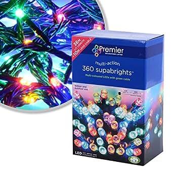 coloured 200 led christmas lights supabrights lighting