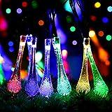 ストリングライトハロウィンクリスマスLinGearDirectイルミネーションライトガーデンライトソーラーled防水ハロウィンクリスマスツリー高輝度配線済み5m20灯雫