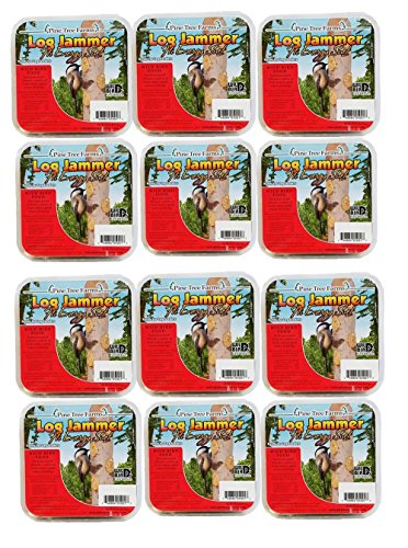 12 Pack of Log Jammers Hi Energy Suet 3 Refills (36 Plugs Total)