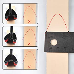 OWDEN Professional 3 Pieces Leather Belt end Cutter Punch Set,V Type Shaped,Leather Belt Strap Punch Tool Set,3 Sizes Leather Tool. (V Type) (Color: V type)