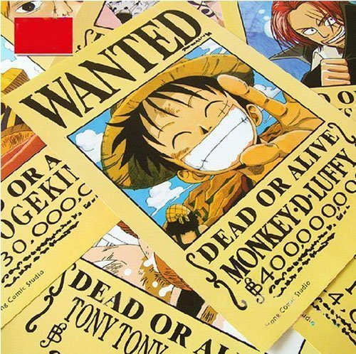 Topbill Anime One Piece Pirates Wanted Posters 11pcs Set - 1