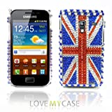 LOVE MY CASE / Samsung Galaxy Ace Plus S7500 / Stylish Diamond Union Jack Phone Case / NEW
