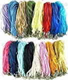 Organza Cord Necklaces Pack of 100 Neck Cords + 10 FREE! with Clasps Rainbow ...