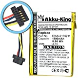 Akku-King Li-Polymer Battery for Mitac Mio 168 / Yakumo Delta 300 / MEDION MD95000 / Navman PiN Pocket / Pin 100 / Pin 300 - replaces E3MIO2135211 - 1800mAh