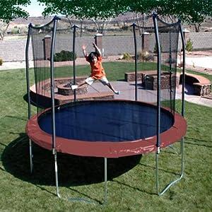 Skywalker 12-Feet Round Trampoline with Enclosure, Red