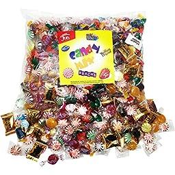 Halloween Candy Mix Bulk Assortment Bag Jolly Rancher Variety Fun Strawberry Filled Brachs Werther\'s Custom Varietea Peppermints and more! Net wt 3.5 LB/56 oz