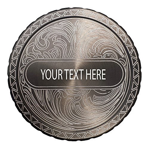 DipLidz Engraved snuff lid Name Plate Scroll (Gray, Copenhagen Fiber Board) (Engraved Snuff Can Lids compare prices)