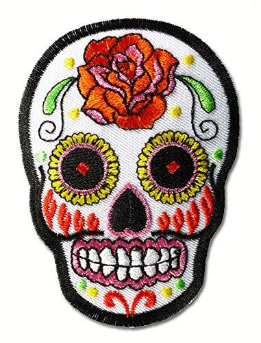 mexico totenmaske sugar skull rockabilly biker tattoo aufn her. Black Bedroom Furniture Sets. Home Design Ideas