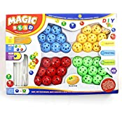 Goodlucky365 36pcs Plastic Bead Toys,Inserted Beads,Magic Beads,Creative Early Educational Learning Assembly Bead...