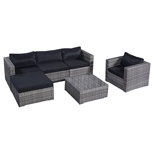13tlg.Lounge Set Gartenmöbel Rattan Set Polyrattan Sitzgruppe Rattanmöbel Garnitur Garten