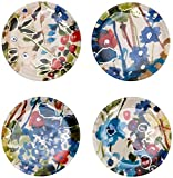 Padma Collection Wildflower Foiled Glass Coasters