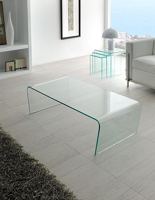 Mesas de Cristal de Centro : Modelo LISITEA de 120x35x60