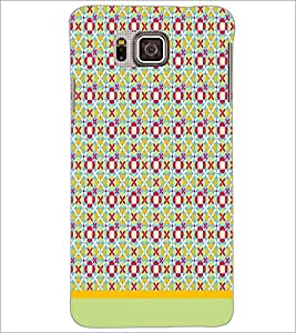 PrintDhaba Pattern D-1595 Back Case Cover for SAMSUNG GALAXY ALPHA (Multi-Coloured)