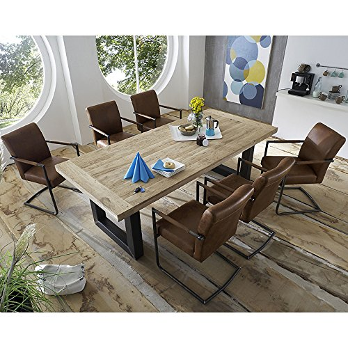 vintage esszimmer set essgruppe 200cm esszimmertisch eiche massiv freischwinger com forafrica. Black Bedroom Furniture Sets. Home Design Ideas
