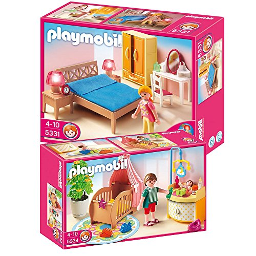 Playmobil Dollhouse Set Includes: Master Bedroom And Nursery Room front-932665