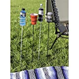 Sunnydaze Outdoor Drink Holder Set of 4