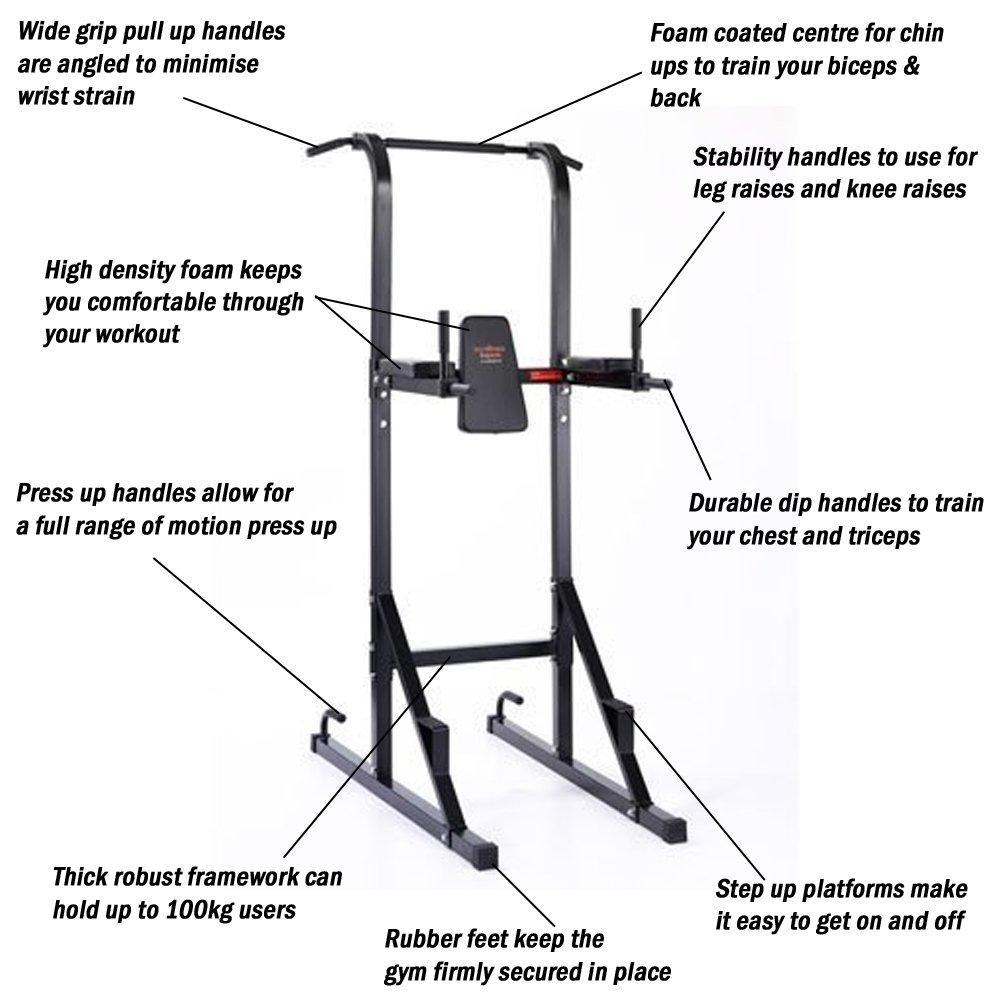 fitnessger t f r dips klimmzug bauch powerstation purefitness multiger t ebay. Black Bedroom Furniture Sets. Home Design Ideas