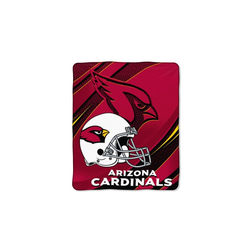 NFL Arizona Cardinals 50 Inch by 60 Inch Micro Raschel Plush Throw Imprint Design