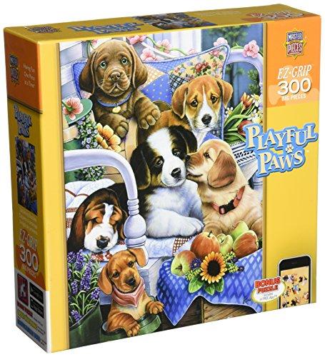 MasterPieces Playful Paws Gardening Buddies EZ-Grip Jigsaw Puzzle, 300-Piece