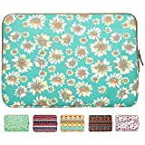 Laptop Sleeve, Mosiso Bohemian Style Canvas Fabric Sleeve Case Bag Cover for 12.9 iPad Pro / 13.3 Inch Laptop / Notebook Computer / MacBook Air / MacBook Pro, Golden Aster