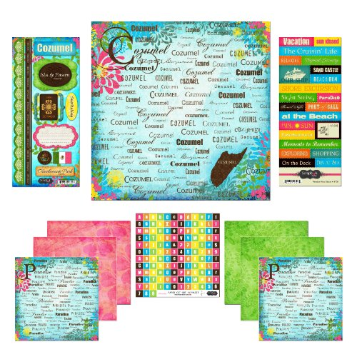 Scrapbook Customs Themed Paper and Stickers Scrapbook Kit, Cozumel Paradise - 1