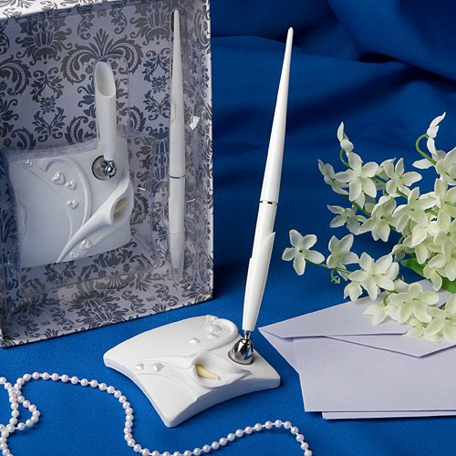 Calla lily design wedding pen set (Set of 6)