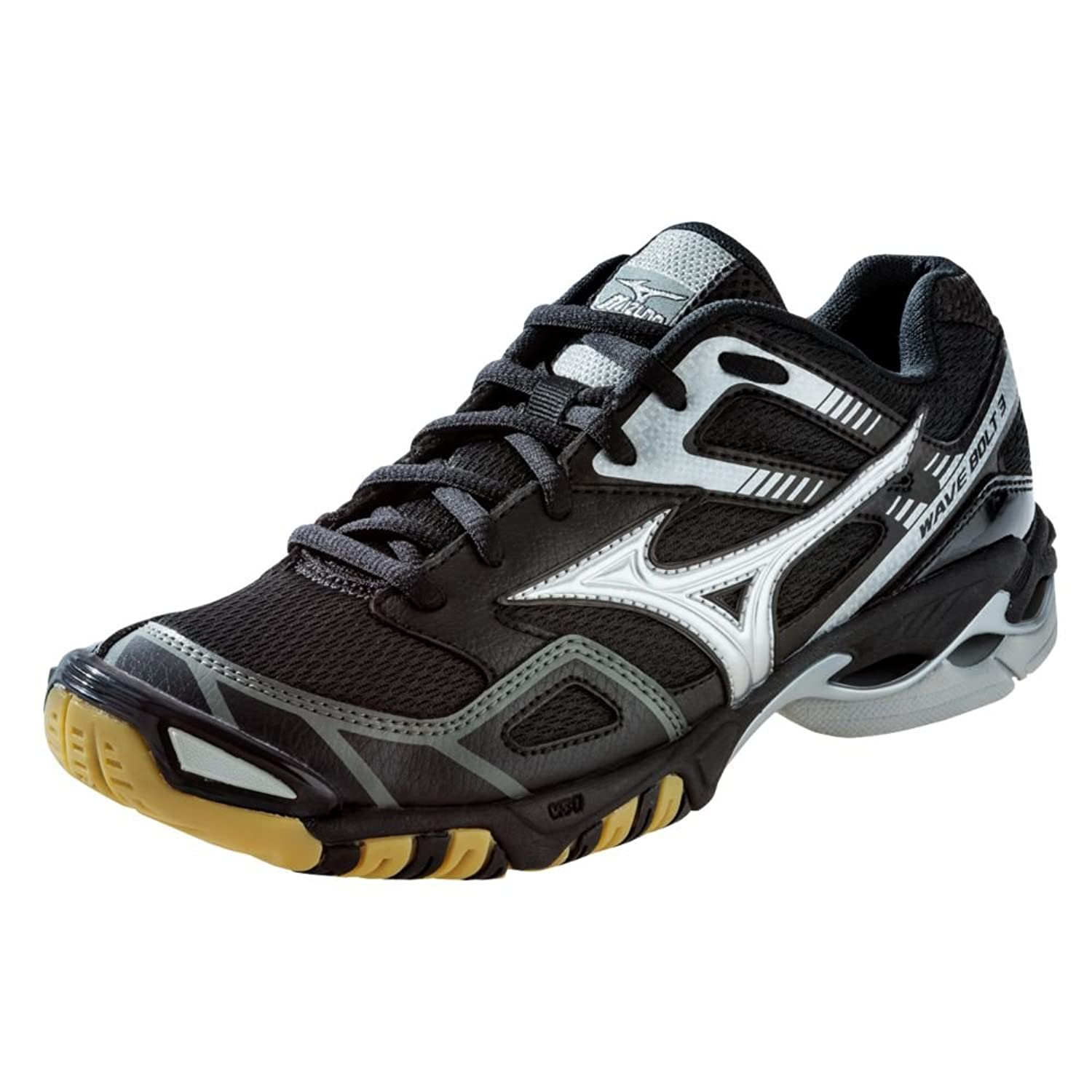 Mizuno Volleyball Shoes Black And Silver 3 Volleyball Shoes Black