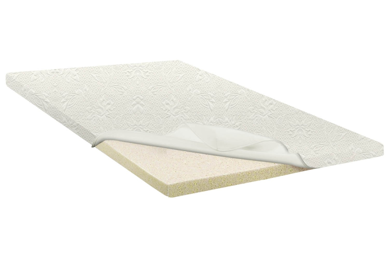Continental Sleep 2 High Density Foam Mattress Topper With Removable Cover T Ebay