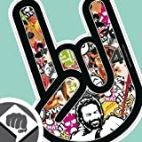 STICKER BOMB 02 - The Rocker Hand Aufkleber Decal Sticker Bombing 15cm NEU