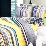 Blancho Bedding - [Golden Field] 100% Cotton 4PC Duvet Cover Set (Queen Siz ....