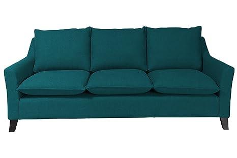 """Newlevel 3-Sitzer-Sofa """"Cyprus"""", 219 x 94 x 93 cm, Feinstruktur, petrol"""