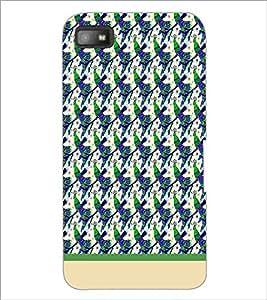PrintDhaba Peacock pattern D-1913 Back Case Cover for BLACKBERRY Z10 (Multi-Coloured)