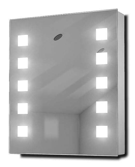 India Demister Fluorescent Bathroom Cabinet With Demister, Sensor & Shaver k79