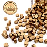 UNIQOOO Arts & Crafts 180 Pcs Metallic Antique Gold Bottle Sealing Wax Beads Nuggets for Wax Seal Stamp, Great for Embellishment of Cards Envelopes, Wedding Invitations, Wine Packages, Gift Wrapping (Color: Antique Gold)