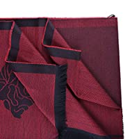 Versace Red 100% Wool Scarf Shawl One Size