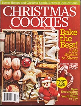 Better Homes And Gardens Christmas Cookies Magazine