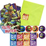 8-Count Teenage Mutant Ninja Turtles Invitations with Sticker Seals