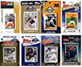 MLB Milwaukee Brewers Men's 8 Different Licensed Trading Card Team Sets