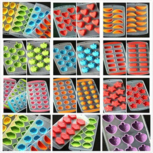 DIY Bacs à Glaçons, Glace De Silicone Cube de Gelée de Fruits au Chocolat Moule à Cake Plateau De Moule Pouding Eenkula - Couleur aléatoire, 22 * 11.5 * 2.5cm
