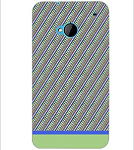 PrintDhaba Pattern D-1729 Back Case Cover for HTC ONE M7 (Multi-Coloured)