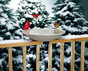 Bird's Choice Api Heated Birdbath w/ Deck Mount Bracket