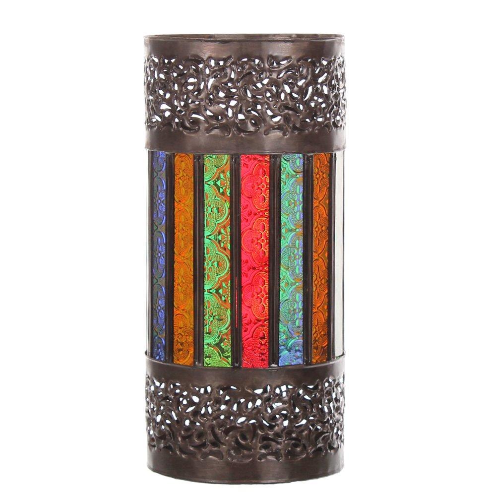 Marokkanisches Windlicht Laterne Zyla 30cm orientalische Laterne Glaslaterne bunt mediterrane Gartenlaterne Terrassenlaterne    Bewertungen und Beschreibung