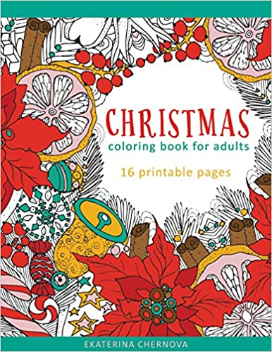 christmas coloring book for adults by ekaterina chernova