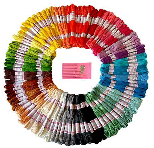 Premium Rainbow Color Embroidery Floss