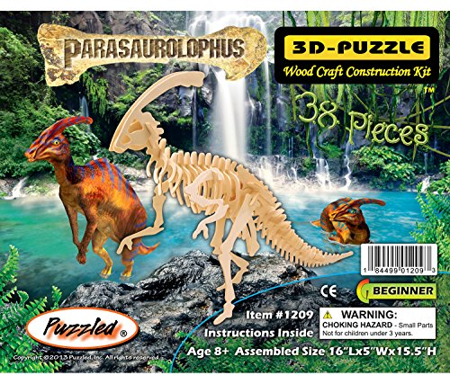 Puzzled 3D Wood Parasaurolophus Construction Kit (38 Piece) - 1