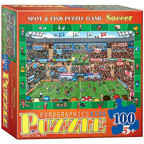 EuroGraphics Soccer Spot & Find 100 Piece Puzzle